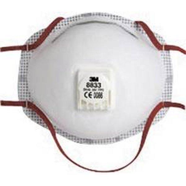 3M 8833 Feinstaubmaske mit Ventil FFP3 10 St