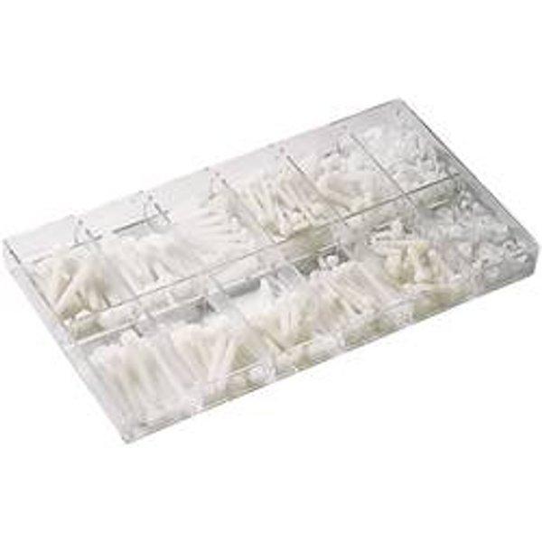 Boîte dassortiments de 420 vis à tête cylindrique en polyamide