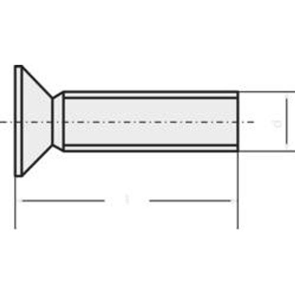 TOOLCRAFT 889785 Senkschrauben M3 8mm T-Profil DIN 965 Edelstahl A2