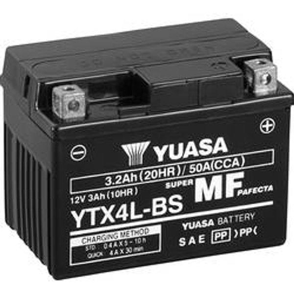 Yuasa Batterie AGM MF wartungsfrei YTX4L-BS (YT4L-BS), 12V, 3Ah