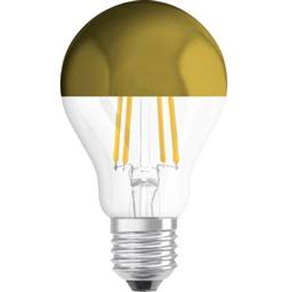 """LED-Glühlampe """"Spiegel gold"""", E27, 4 W, warmweiß, klar (4058075130852)"""