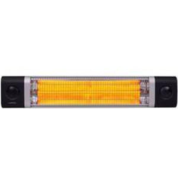 Chauffage infrarouge 2500 W noir OMEGA 2500 TLC - FARGAU