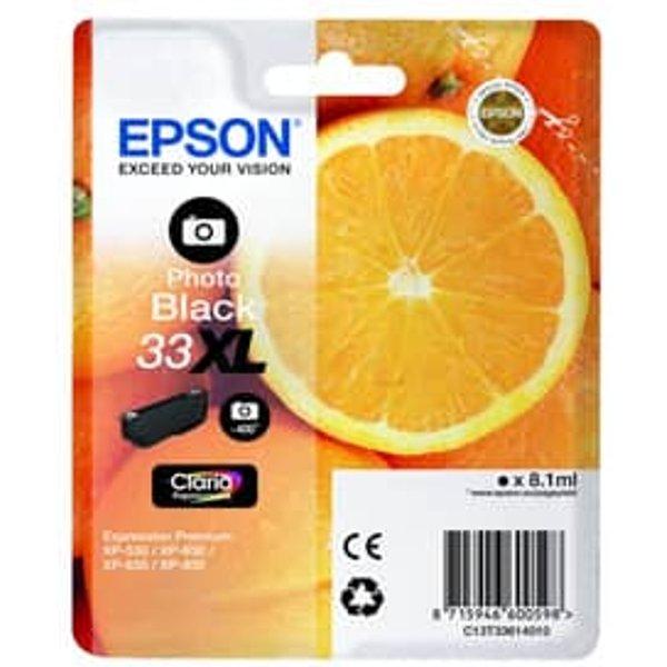 Epson 33 Orange Photo Ink Cartridge XL Black, Black