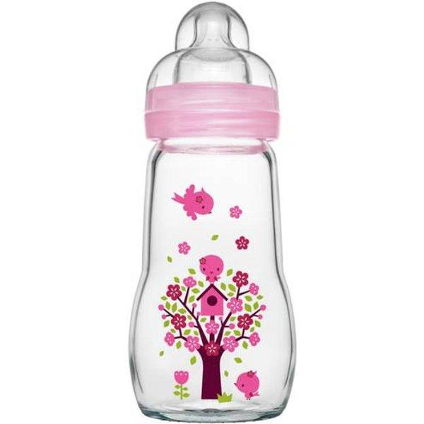 MAM Feel Good Glass Bottle Mädchen, 260 ml