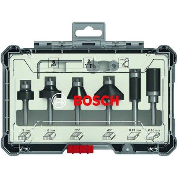 Bosch Accessories Bosch Trim&Edging Fräser Set, 6 tlg., 6mm Schaft. 2607017468