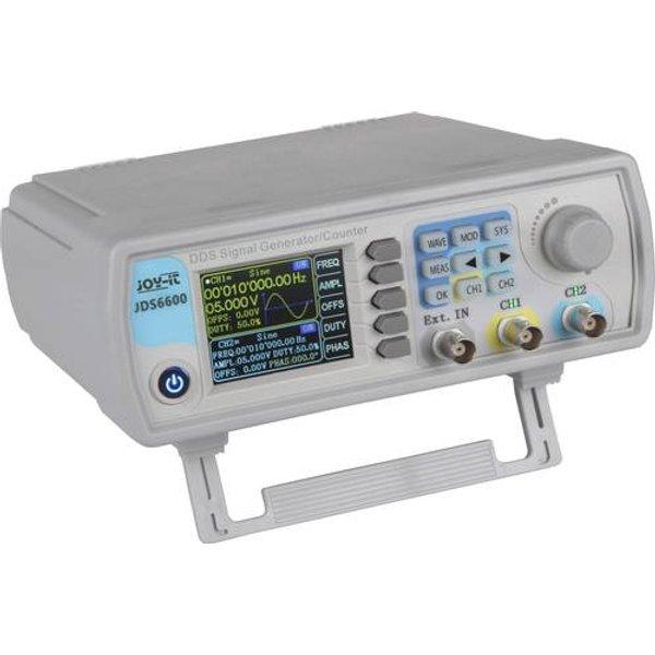 Joy-it JDS6600-LITE Funktionsgenerator netzbetrieben 15MHz - 0.01 µHz 2-Kanal Dreieck, Rechteck, Si