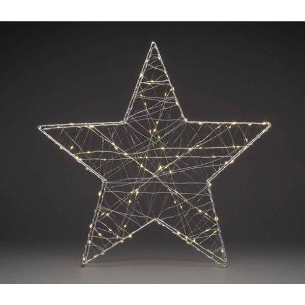 Konstsmide 1793-333 LED-Tischdeko Stern Warm-Weiß LED Silber
