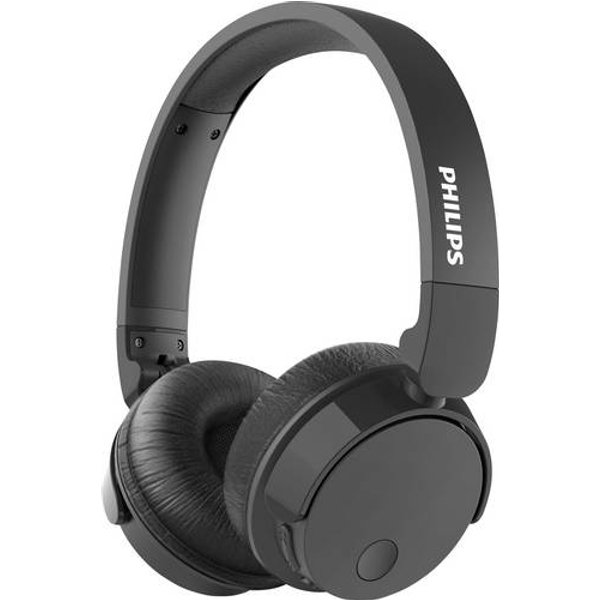 Philips TABH305 Bluetooth Casque supra-auriculaire supra-aural pliable, volume réglable, suppression du bruit noir