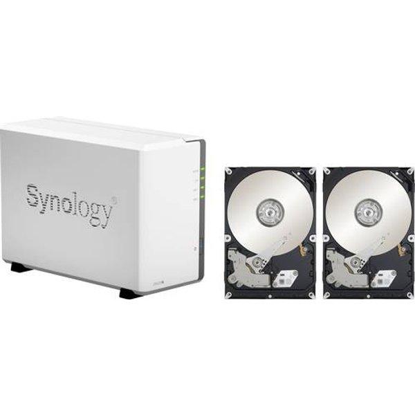 Synology DiskStation DS220j NAS-Server 4 TB 2 Bay bestückt mit 2x 2TB WD RED DS220J RED