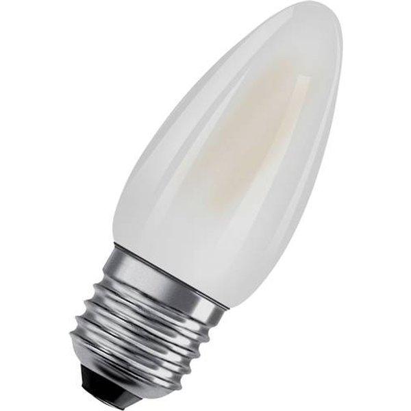 OSRAM candle LED bulb E27 4W Classic B 2,700K matt