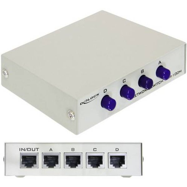 Switch réseau RJ45 Delock 87588 4 ports 100 Mo/s