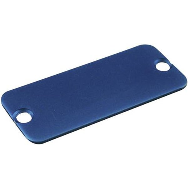 Plaque arrière Hammond Electronics 1455QALBU-10 aluminium bleu