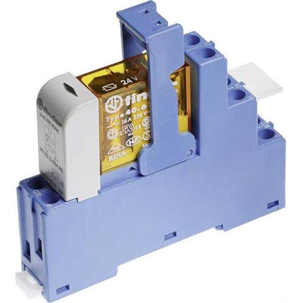 Finder 48.52.8.110.0060 Relaisbaustein Nennspannung: 110 V/AC Schaltstrom (max.): 8A 2 Wechsler 1St.