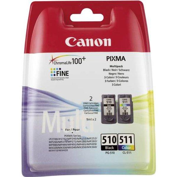 Canon PG-510 CL 511 / 2970 B 010 Tintenpatrone schwarz color original