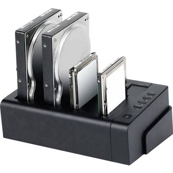 Renkforce rf-docking-06 USB 3.0, eSATA SATA 4 Port Festplatten-Dockingstation