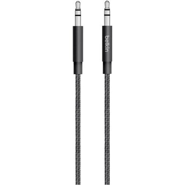 Belkin Premium 3.5mm Braided Tangle Free Aux Cable - Black