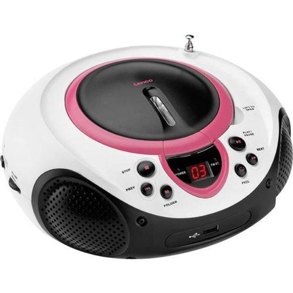 LENCO SCD-38 - CD-Radio portable (FM, Rose)