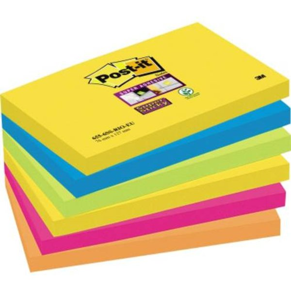 Post-it Super Sticky Notes RIO 76x127mm Pack of 6
