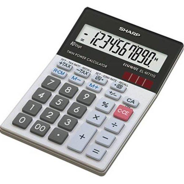 SHARP EL-M711GGY - Calcolatrice tascabile (Nero)