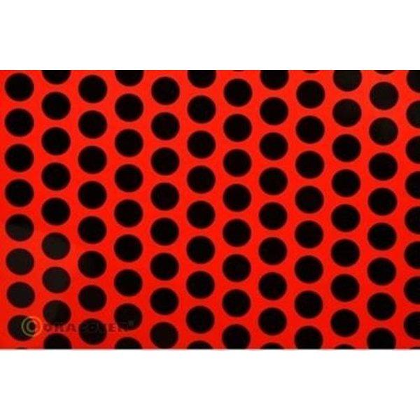 Oracover 93-021-071-010 Plotterfolie Easyplot Fun 1 (L x B) 10m x 30cm Rot, Schwarz