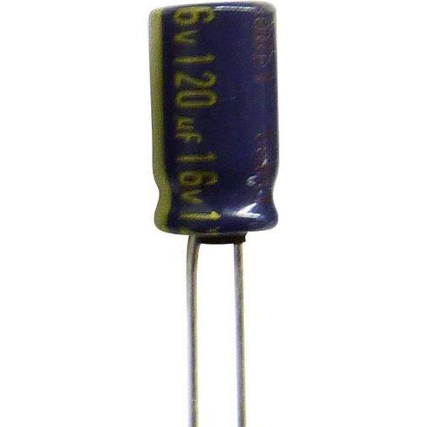 Condensateur électrolytique sortie radiale 100 µF 25 V/DC Panasonic EEUFC1E101S (Ø x h) 6.3 mm x 11.2 mm 20 % Pas: 2.5