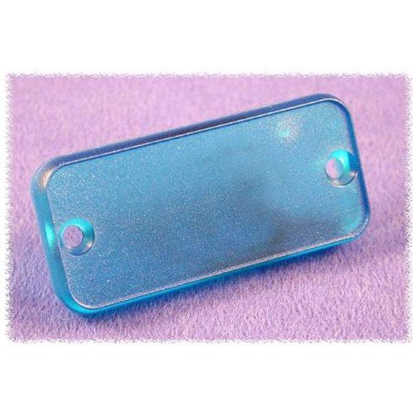 Plaque arrière Hammond Electronics 1455QPLTBU ABS bleu (transparent) (L x l x h) 8 x 120.5 x 51.5 mm