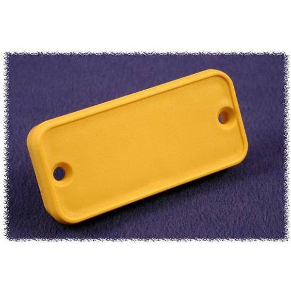 Plaque arrière Hammond Electronics 1455PPLY-10 ABS jaune (L x l x h) 8 x 120.5 x 30.5 mm