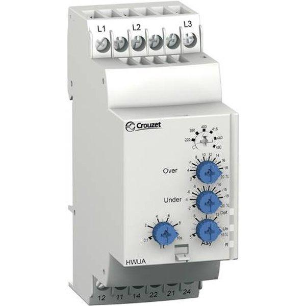 Crouzet Überwachungsrelais 208 - 480 V/AC 2 Wechsler HWUA 1St.