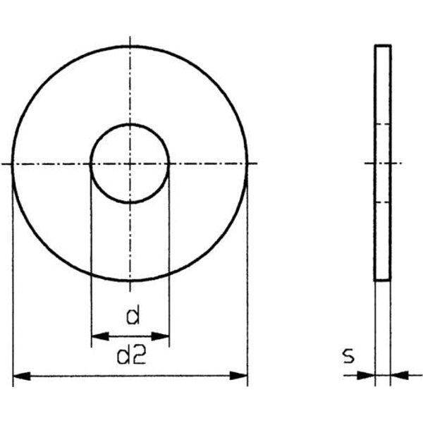 Rondelle TOOLCRAFT 3,2 D9021:A2K 194723 N/A Ø intérieur: 3.2 mm M3 acier galvanisé 100 pc(s)
