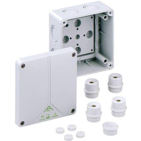 Boîte de raccordement Spelsberg 80690701 (L x l x h) 110 x 110 x 67 mm gris IP65 1 pc(s)
