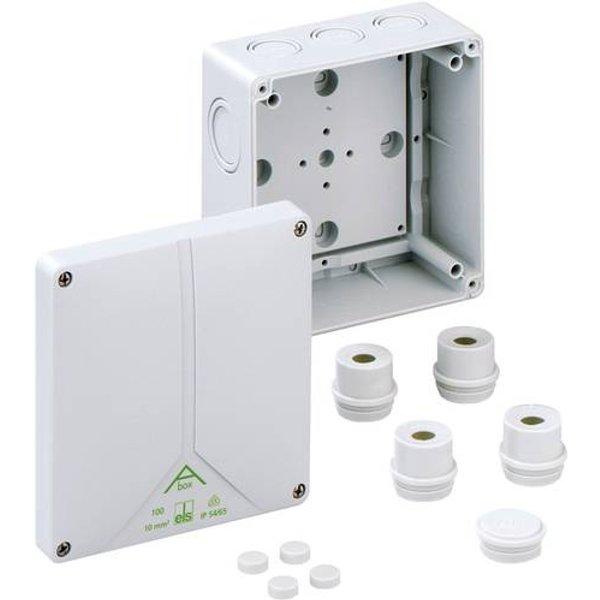 Boîte de raccordement Spelsberg 81091001 (L x l x h) 140 x 140 x 79 mm gris IP65 1 pc(s)