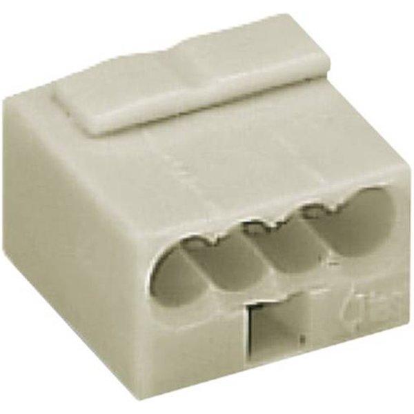 Borne micro - 4 fils - Gris - Série 243 Courant faible - WAGO