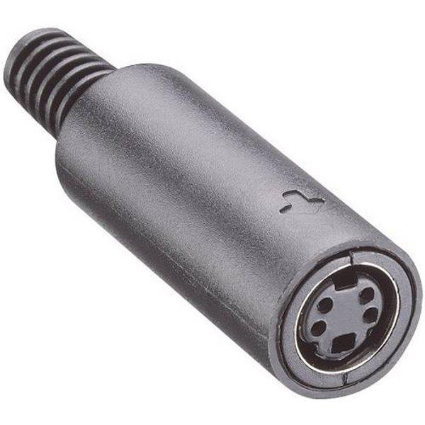 Lumberg MJ-372/8 DIN-Rundsteckverbinder Buchse, gerade Polzahl: 8 Schwarz