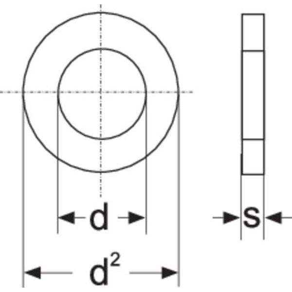 Rondelle TOOLCRAFT 814652 N/A Ø intérieur: 4.3 mm M4 acier galvanisé 100 pc(s)