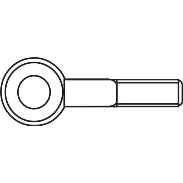 Piton à visser 20 mm C56703 - TOOLCRAFT (828095)