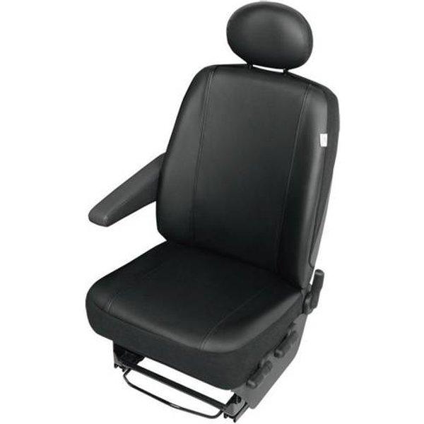 Housse de siège 1 pièce 22811 Cuir synthétique noir siège conducteur