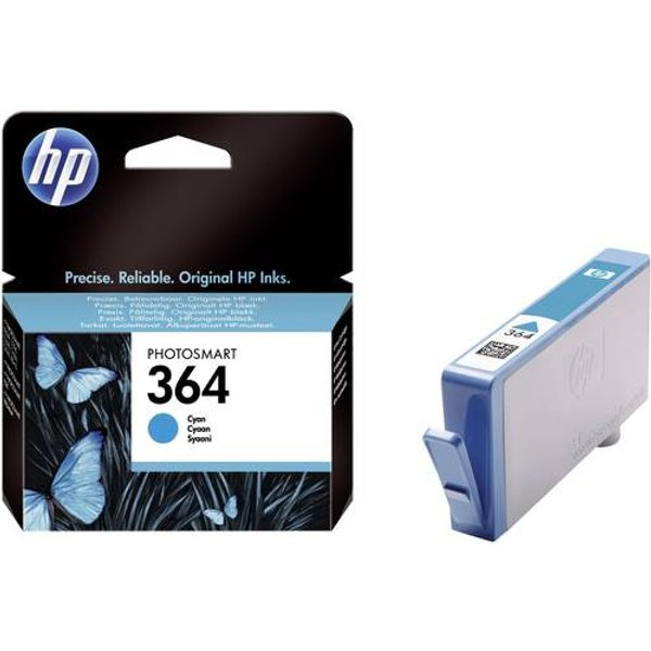 Original HP No. 364 Cyan Ink Cartridge (CB318EE)