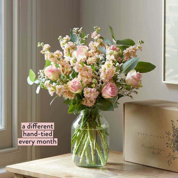 Flower Subscription - 3 Month Flower Subscription - Hand-tied Flowers - 3 Months of Hand-Tied Flowers