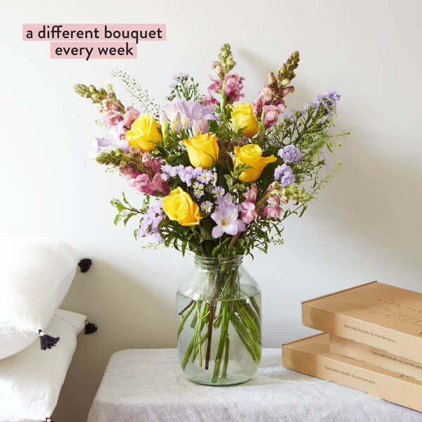 Flower Subscription - 12 Months Of Flowers - Letterbox Flowers - Winter Flowers - Flowers - Flower Delivery - Send Flowers - Bloom & Wild Flowers - Flower Gift - Flower Bouquet - A Year of Weekly Luxe Flowers