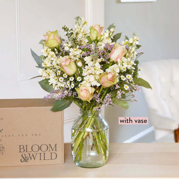Next Day Delivery - Hand-Tied Flowers - Flowers - Send Flowers - Roses - Luxury Flowers - Flower Delivery - The Elena & Vase