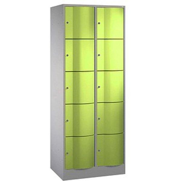 CP Schließfachschrank S 5000 Resisto grün/grau