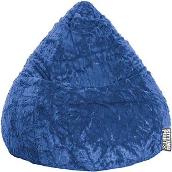 SITTING POINT Beanbag Fluffy XL Sitzsack blau