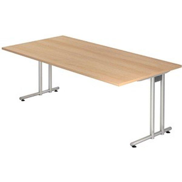 HAMMERBACHER Prokura Schreibtisch eiche rechteckig