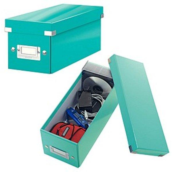 Leitz CD-Ablagebox Click & Store WOW, eisblau