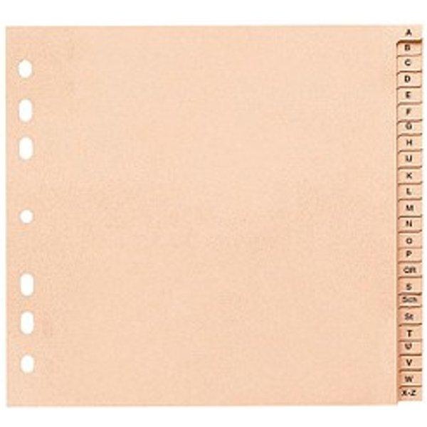 10 Register DIN A4 Halbformat, Überbreite A-Z chamois 24-teilig