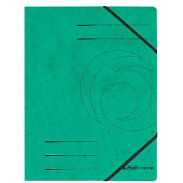 5 herlitz Eckspanner easy orga DIN A4 grün