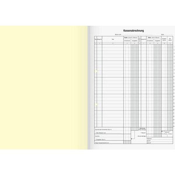 Kassenbuch - für Nettoversteuerung, 2 x 50 Blatt