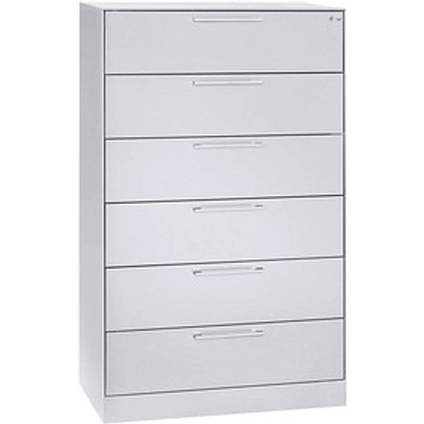 CP C 3000 Asisto Karteischrank weiß/weiß 6 Schubladen