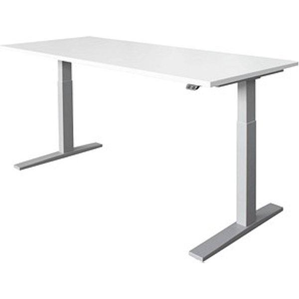 HAMMERBACHER höhenverstellbarer Schreibtisch Ohne weiß rechteckig
