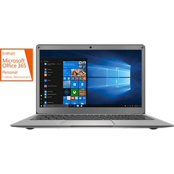 "PEAQ Slim S130 N3350 - Notebook (13.3 "", 64 GB eMMC, Grau)"